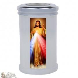 Bougies veilleuses de remerciement au Christ Miséricordieux