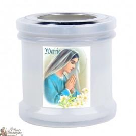 Night-light kaarsen om de Maagd Maria te bedanken
