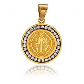 Médaille Saint Benoit Swarovski Synthetique