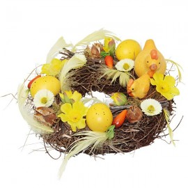 Couronne fleurie de Pâques