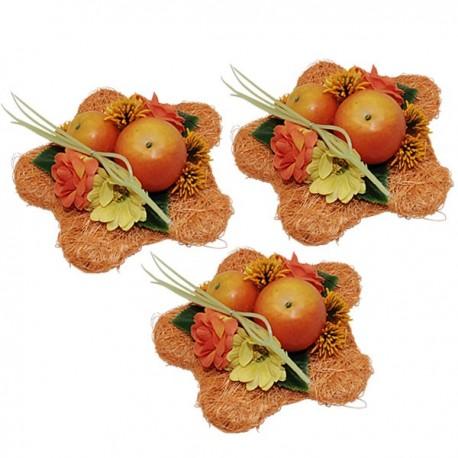 Fleurs oranges décoration