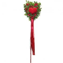 Coeur fleuris pic décoration