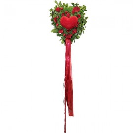 Flowered heart pic decoration