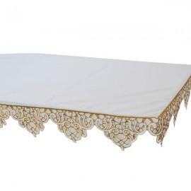Tischdecke aus Altarstickerei Gold 3 Seiten