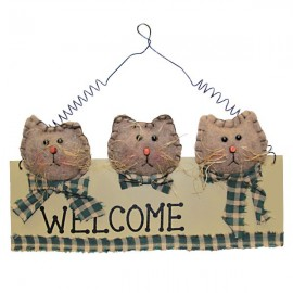 Plaque welcome Petits Chats