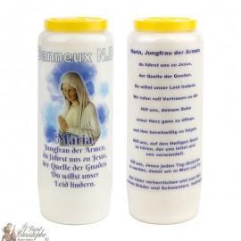 Bougies de Neuvaine Vierge des pauvres de Banneux N.D - 20 pièces