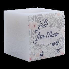 Bougie parfumée et colorée dans la masse prénom personnalisable