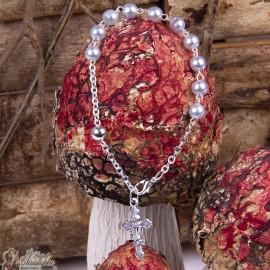 Bracelet beads cross chalice
