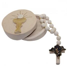 Box with ten terracotta rosaries