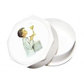 Boîte chapelet communion - Garçon