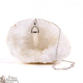 Pendentif Collier pierre de Cristal de roche