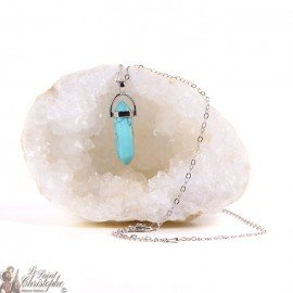 Pendant - Artificial Turquoise Stone Necklace