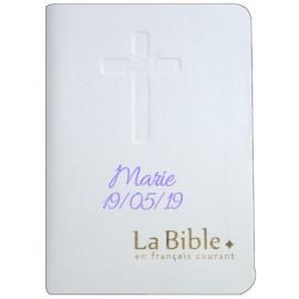 Bible en français courant personnalisable prénom pour communion