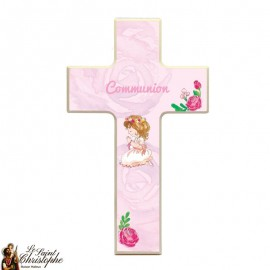 Wooden cross for girl communion