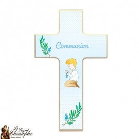 Wooden cross for boy communion