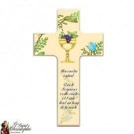 Houten kruis voor communie