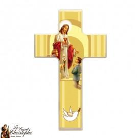 Croix en bois pour communion garçon
