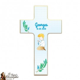 Wooden cross for boy communion - customizable