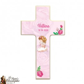 Wooden cross for girl communion - customizable