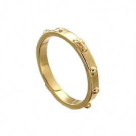 Christian cross Roarye Ring - 18 carat gold plated