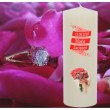 Bougie de mariage personnalisable - Fleurs rouges