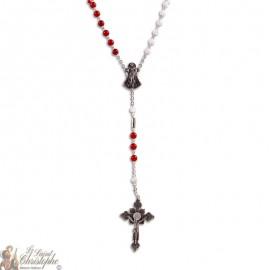 Chapelet de la Divine Miséricorde Agate rouge Pierre de Santé