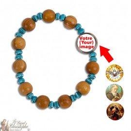 Bracelet en bois dizaine - personnalisable