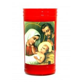 Bougie Led rouge Sainte Famille