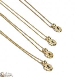Halskette Anhänger Anfangsbuchstabe vergoldet