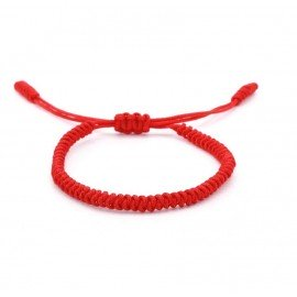 Tibetano buddista buddista Bracciale Porta fortuna - Rosso