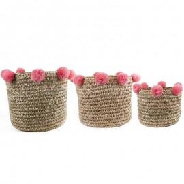Baskets Pink Pumps set 3 pieces