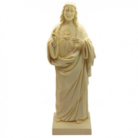 Statue Sacred Heart of Jesus Marble Powder