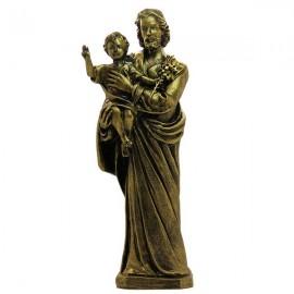 Statue Saint Joseph en poudre de Marbre couleur bronze