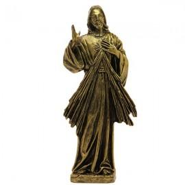 Statue Christus Barmherziger Marmor Pulver Bronze Farbe