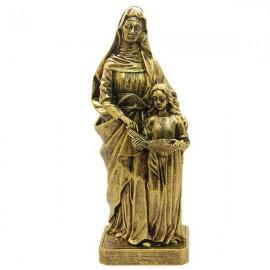 Statue in Heiliger Anna Marmorpulver bronzefarben