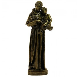 Statue à Saint Antoine poudre de Marbre couleur bronze