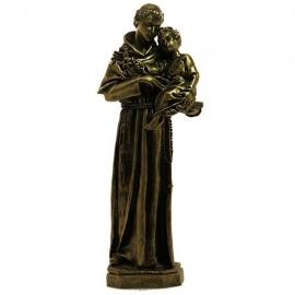 Statue in Heilige Anthonius Marmor Pulver Bronze Farbe
