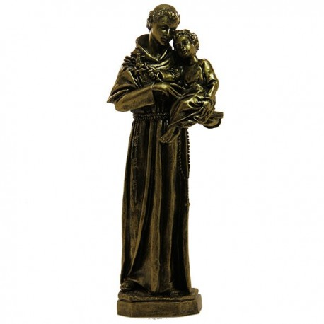 Statue in Holy Anna Marble powder bronze color