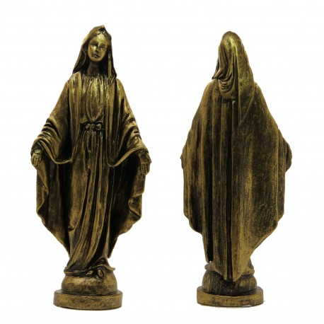 Statue Christ Merciful Marble powder bronze color