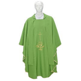 Chasuble for priest with gold cross embroidered stole