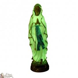 Statue Vierge de Lourdes fluorescente - 22 cm