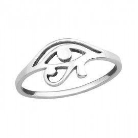 Horus eye ring - silver 925