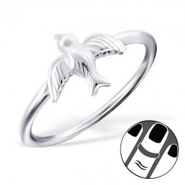Swallow Ring - silver 925