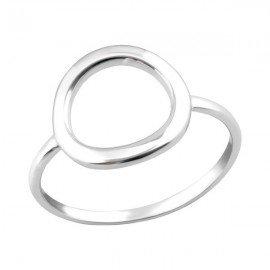 Anillo salvavidas circular - plata 925