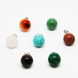 Collier avec 7 pierres de santé, chakras - petites gouttes