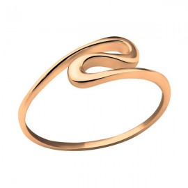 Gold plated wave ring - silver 925