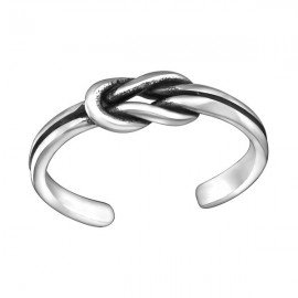 Teen Bow Toe Ring - Zilver 925