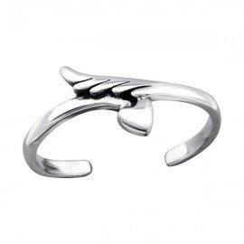 Engelenvleugel en hartneusring - Zilver 925