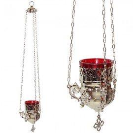 Lampada greca argento - lampada da parete