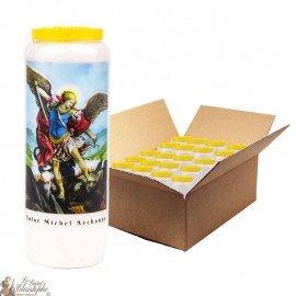 Saint Michel Novena Candles - Model 1 - 20 pieces
